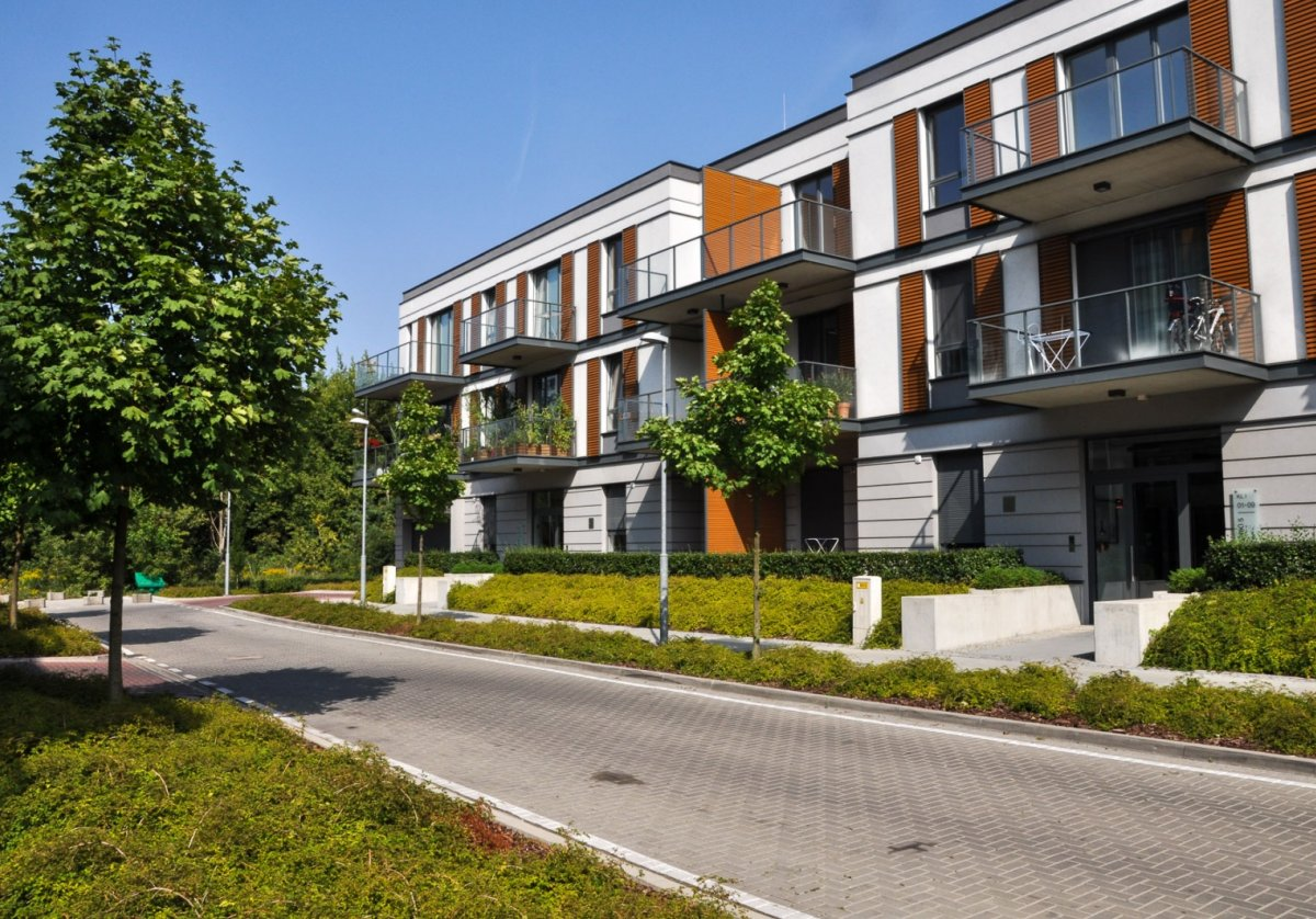 Flat for rent Poznań Bielniki with garden in new building